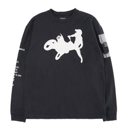 BLACK MOTORCROSS LONG SLEEVE T-SHIRT