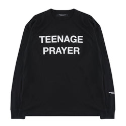 BLACK TEENAGE PRAYER LONG SLEEVE T-SHIRT