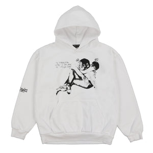 LANGUAGE PULLOVER HOODY (WHITE)