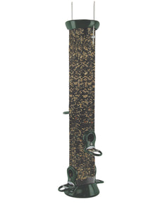 Seed Tube Feeder - Cardinal-friendly Perches - Green