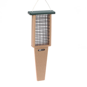 Recycled Suet Feeder - Double - Pileated Tail Prop
