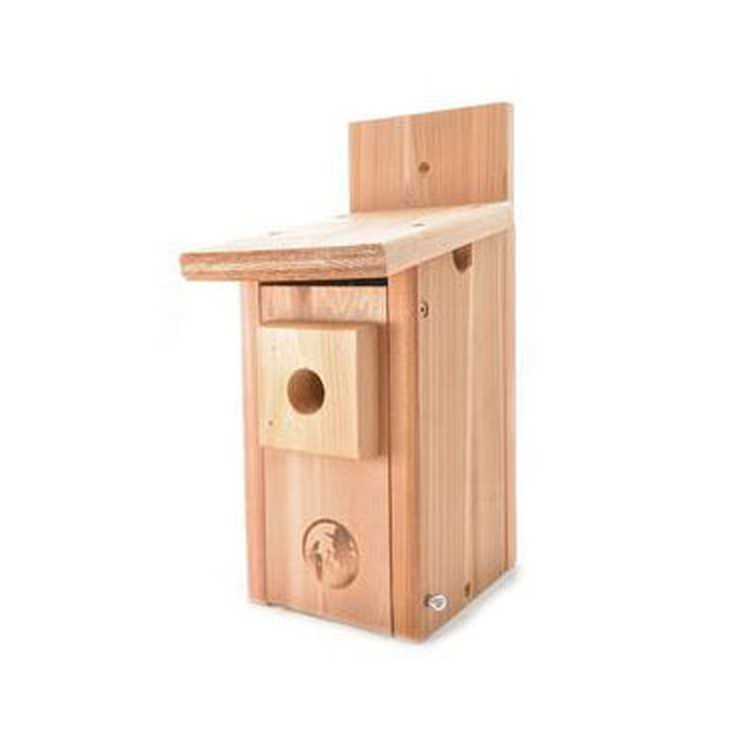 Amish Chickadee/Nuthatch Nest Box - Cedar