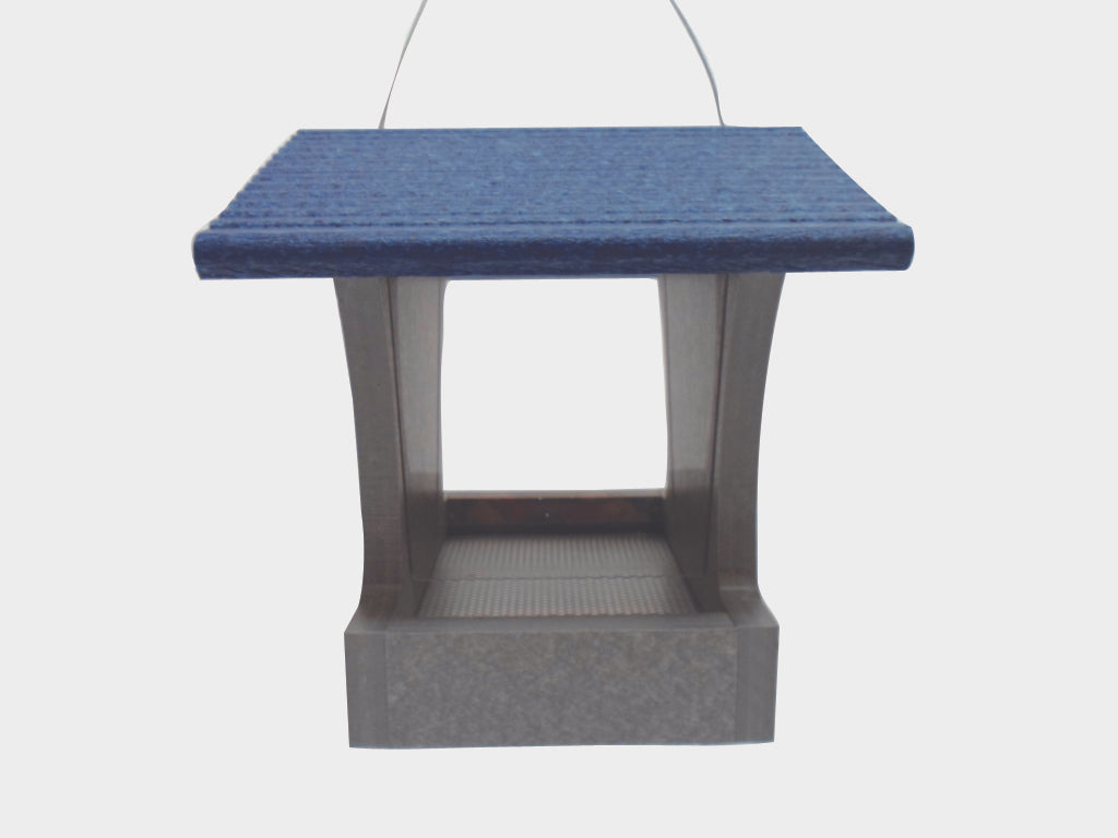 Recycled Hopper Feeder - Blue