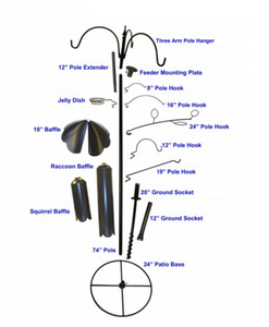 Tubular Pole - Tops - Hooks