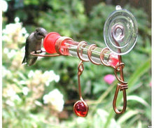 Load image into Gallery viewer, Hummingbird Window Wonder Feeder - Decorated - One Tube
