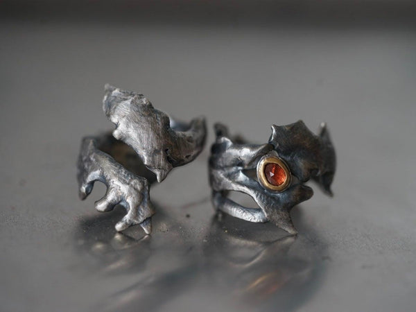 RESERVED for ZOE, dragon eye rings, size 8 & 9
