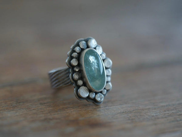 Aquamarine statement ring, size 6, little sister