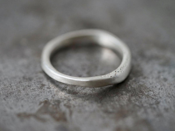 organic flowing sterling silver ring, size 9