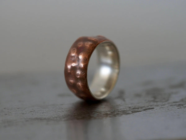 Copper and Sterling Silver ring, size 7.5