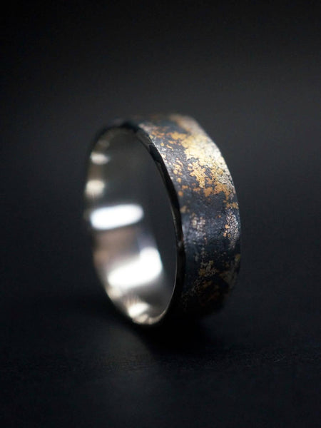 made to order Gold on Black Ring,