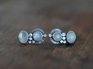 RESERVED FOR JESSICA custom made moonstone post earrings