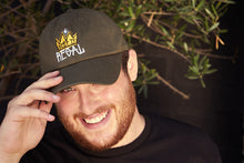 "Load image into Gallery viewer, Keep It Regal ""Olive"" curved brim adjustable hat"