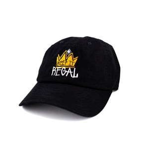 "Keep It Regal ""Black"" curved brim adjustable hat"