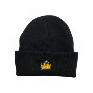 "Regal Crown ""Black"" Beanie"