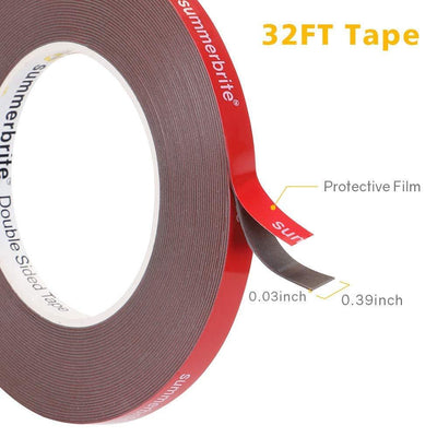 Double Sided Tape Pack 16ft/32ft Waterproof VHB Mounting Tape Heavy Duty - HitLights