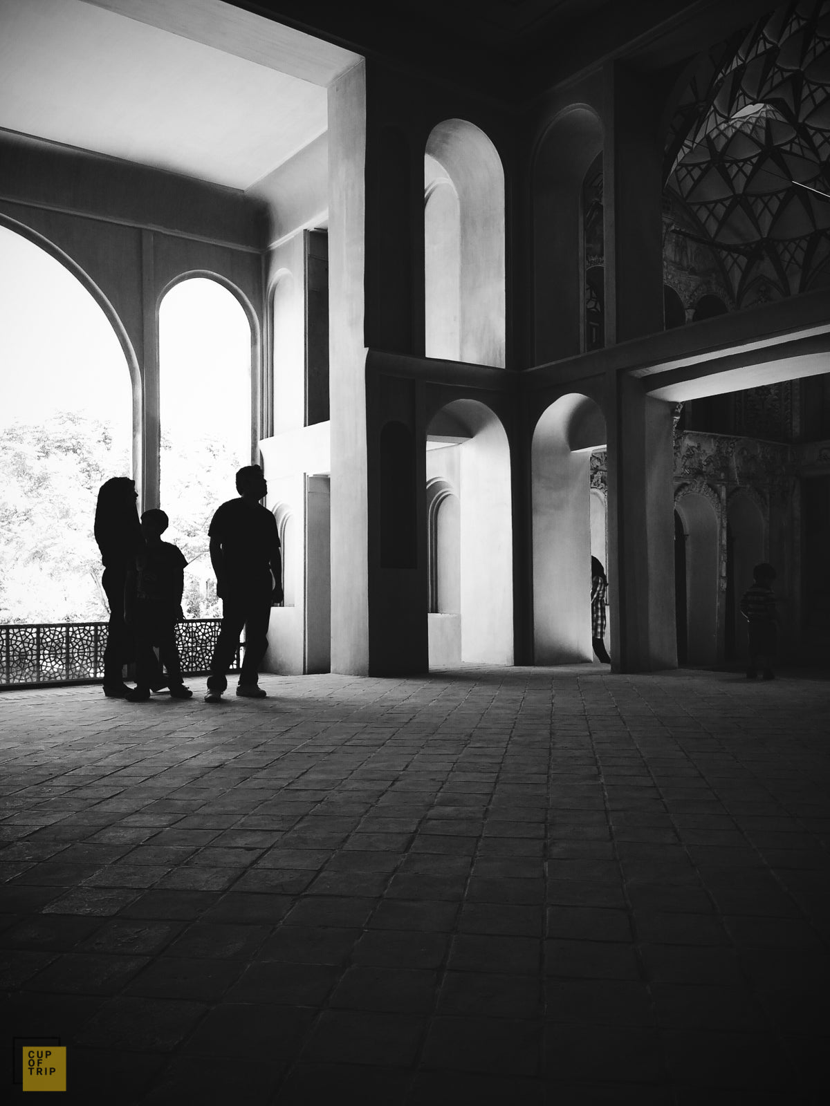 Borujerdiha Historical House, Kashan - Black & White