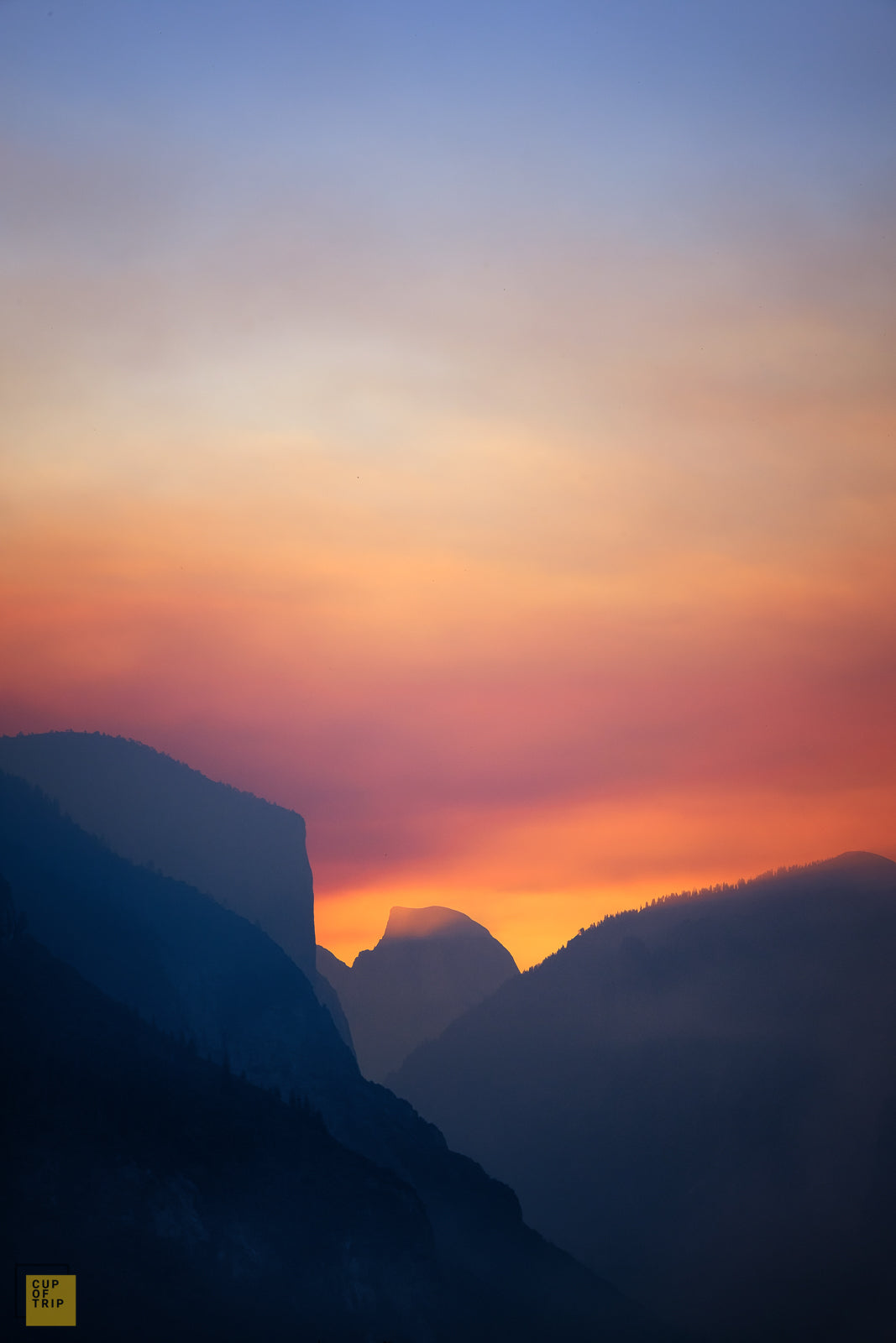 Half Dome in Early Morning, California