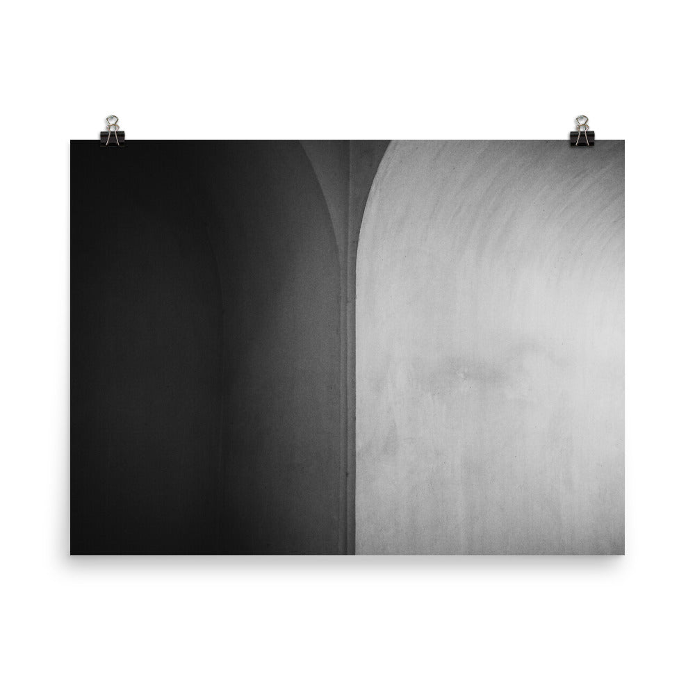 An Abstract of Tabatabaei House in Kashan - Black & White