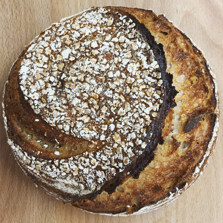 Oat porridge sourdough