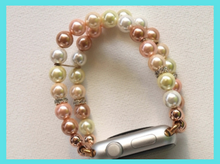 Load image into Gallery viewer, Floral and White Shell Pearls Watch Band for Apple Watch