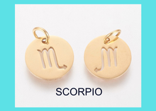 Load image into Gallery viewer, Charm - Zodiac - SCORPIO