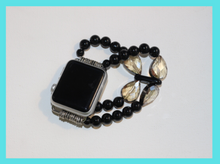 Load image into Gallery viewer, Black Onyx and Tear Drops Watch Band for Apple Watch
