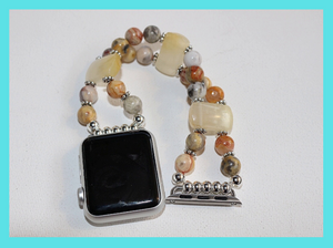 Watch Band for Apple Watch, Crazy Agate and Yellow Agate