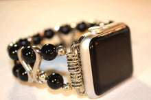 Load image into Gallery viewer, Black Onyx and S Bar Watch Band for Apple Watch