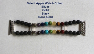 7 Chakra Bracelet Watch Band for Apple Watch, Yoga Bracelet Apple Watch