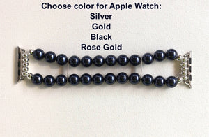 Watch Band for Apple Watch, Blue Pearl