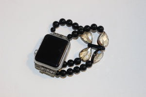 Black Onyx and Tear Drops Watch Band for Apple Watch