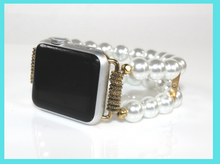 Load image into Gallery viewer, Watch Band for Apple Watch, White Pearls