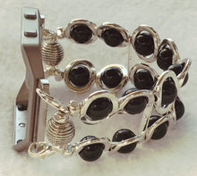 Load image into Gallery viewer, FITBIT Blaze Watch Band, Silver Ovals and Black Beads