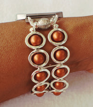 Load image into Gallery viewer, FITBIT Blaze Watch Band, Silver Ovals and Copper Beads