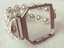 Load image into Gallery viewer, FITBIT Blaze Watch Band, Silver Ovals and Silver Beads