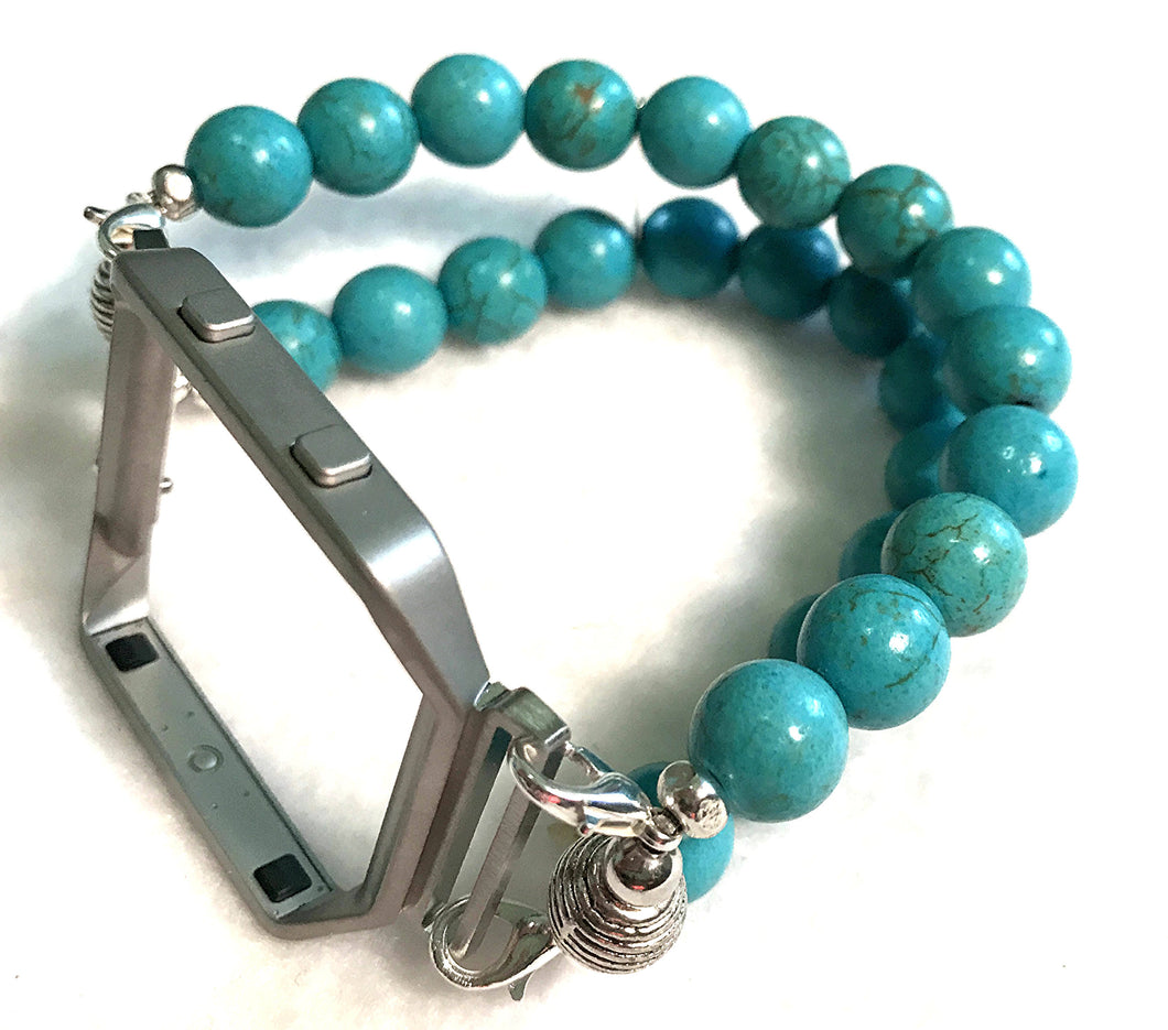FITBIT Blaze Watch Band, Turquoise Howlite Beads