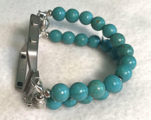 Load image into Gallery viewer, FITBIT Blaze Watch Band, Turquoise Howlite Beads