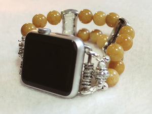 Watch Band for Apple Watch Natural Yellow Jade