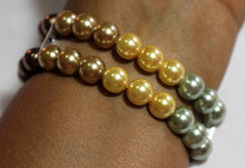 Load image into Gallery viewer, Watch Band for Apple Watch, Fall Color Pearl Bracelet, Brown Green Gold Yellow Pearls
