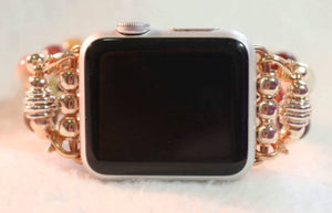 Rose Gold Apple Watch Band, Watch Band for Apple Watch, Mookaite Jasper Band for Apple Watch, Apple Watch 38mm, Apple Watch 42mm