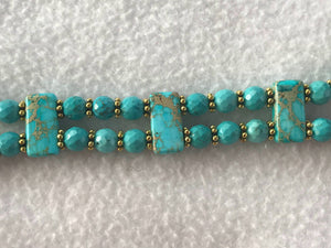 Watch Band for Apple Watch, Aqua Jasper and Turquoise