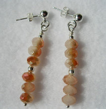 Load image into Gallery viewer, Orange Fire Calcite Tear Drops Necklace