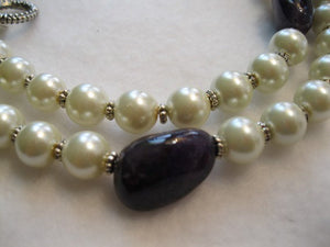 Amethyst and Pearls Necklace