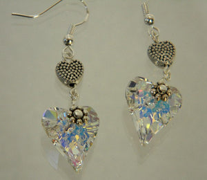Dangle Earrings, Wild Heart Crystal Earrings