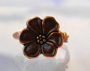 Copper Flower Ring