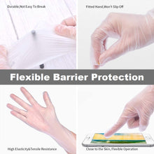 Load image into Gallery viewer, Clear Disposable Vinyl Gloves Latex Free, PVC (Box of 100)