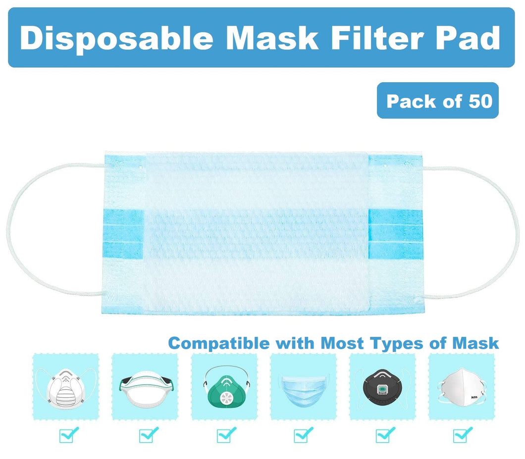 (SOLD OUT)-Skin-Friendly Disposable Mask Filter Pad (Pack of 50)