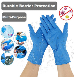 Disposable Nitrile Gloves Powder Free (Box of 100)
