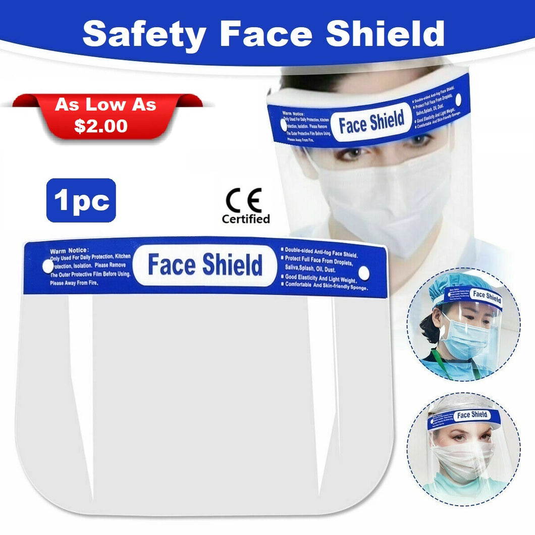 Safety Face Shield with Full Protection (1pc) - CE Certified