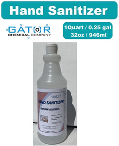 GATOR Hand Sanitizer (1Qt/32oz) - Gel Type